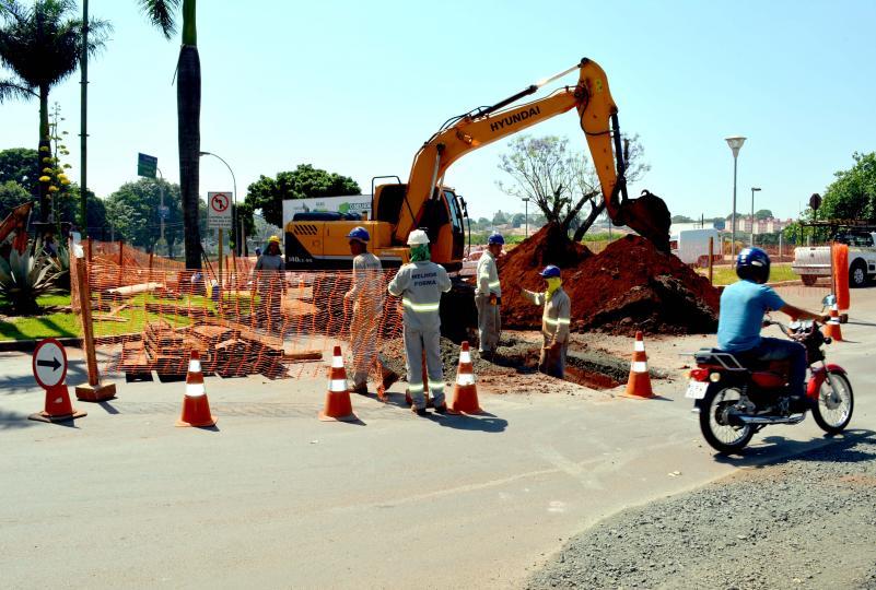 Ligações subterrâneas das obras da ETE de Cordeirópolis estão sendo finalizadas