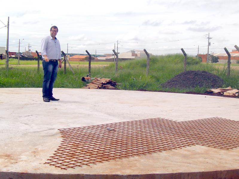 Base do Reservatório de 1 milhão de litros da Região Sul está finalizada