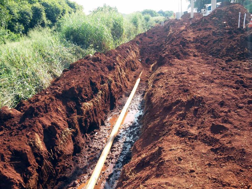 SAAE realiza obras de melhorias em coletor de esgotos