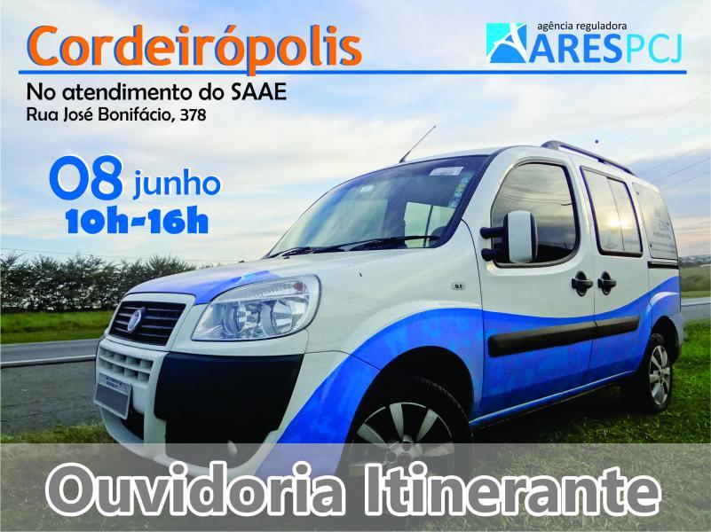 Ouvidoria Itinerante da ARES-PCJ atende população em Cordeirópolis